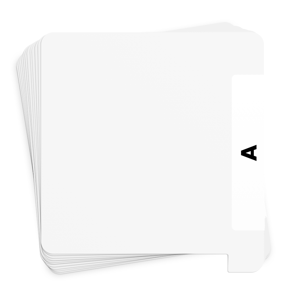 30 Pack White Vinyl Record Dividers