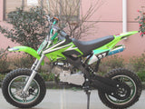Level Entry 50cc 2 Stroke Air Cooled 3HP Dirt Bike - Green FREE DELIVERY NATION WIDE - Pocketbike SA