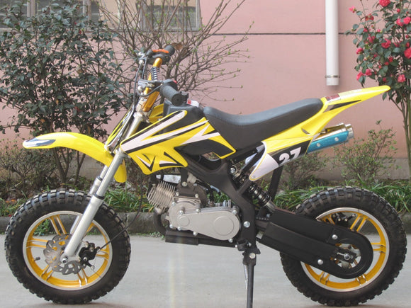 Level Entry 50cc 2 Stroke Air Cooled 3HP Dirt Bike - Yellow FREE DELIVERY NATION WIDE - Pocketbike SA