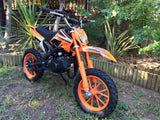 KXD Dirt Bike Fairing Kit - Orange - Pocketbike SA