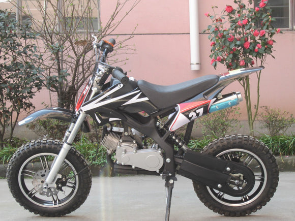 Level Entry 50cc 2 Stroke Air Cooled 3HP Dirt Bike - Black FREE DELIVERY NATION WIDE - Pocketbike SA