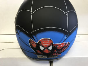 Kids Spider Man Helmet 49-54cm - Black - Pocketbike SA