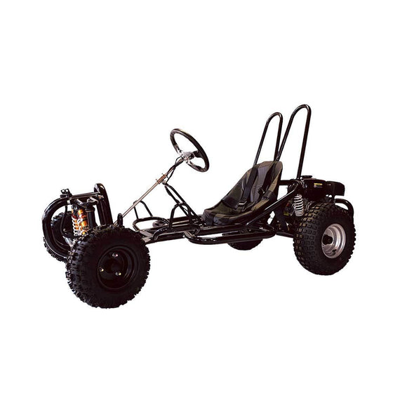 200cc Petrol Go-Kart with suspension & belt drive - Black - Pocketbike SA
