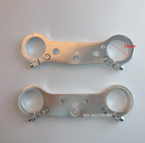 Set Dirt Bike Steering Plates - Pocketbike SA
