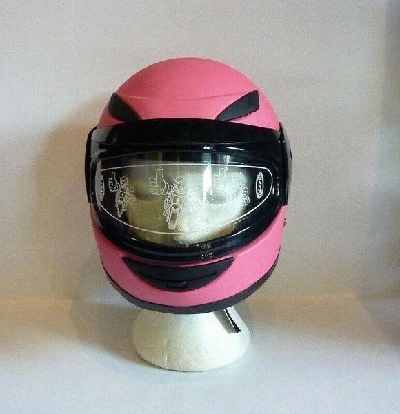 Kids Helmet Matt Pink - Pocketbike SA