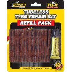 Shield Tubeless Tyre Repair Kit (Refill Pack) - Pocketbike SA