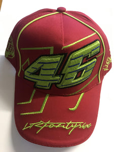 Official #46 Valentino Rossi Cap - Red - Pocketbike SA