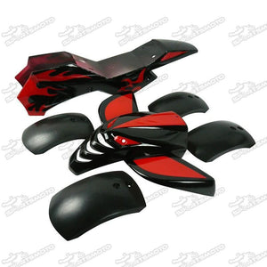 Red & Black Mini Quad Fairing Kit - Pocketbike SA