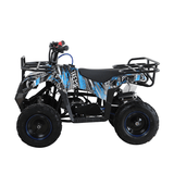 50cc 2 Stroke Level Entry Kids Quad - Camo Blue with Racks - Pocketbike SA