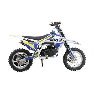 This Limited Edition 49cc 2 Stroke 3HP Upbeat Kids Level Entry Dirt Bike - Pearl White - Pocketbike SA