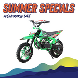 Kids 50cc 2 Stroke Level Entry Upbeat Dirt Bike - Green FREE DELIVERY WITHIN SOUTH AFRICA