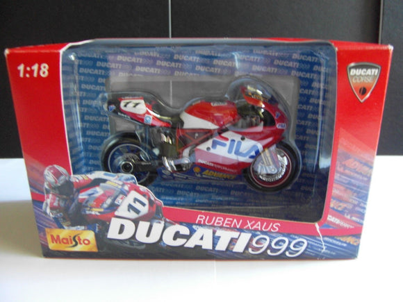 Model Bike 1:18 #11 Ruben Xaus - Ducati 999 - Pocketbike SA