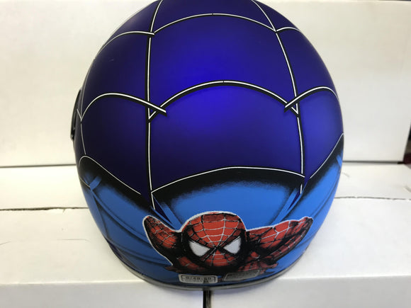 Kids Spider Man Helmet 49-54cm - Blue - Pocketbike SA