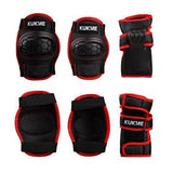 Set Red & Black Knee + Elbow Protectors