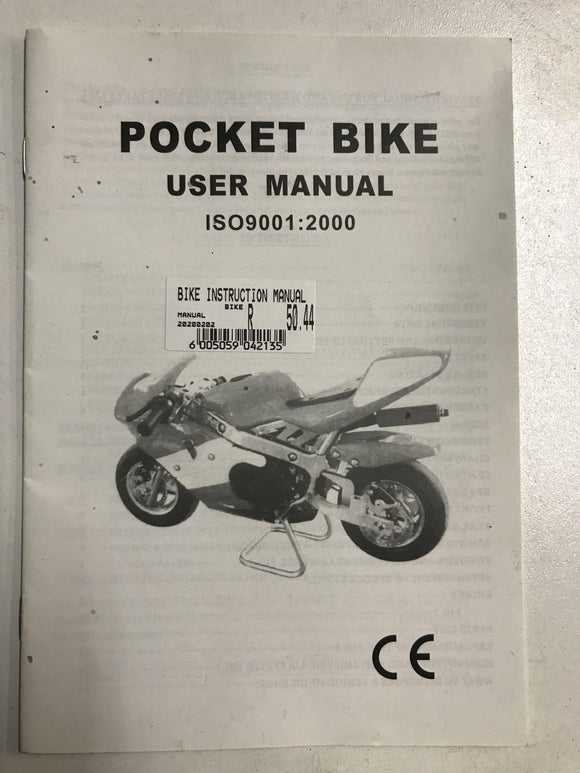 Pocket Bike Instruction Manual - Pocketbike SA