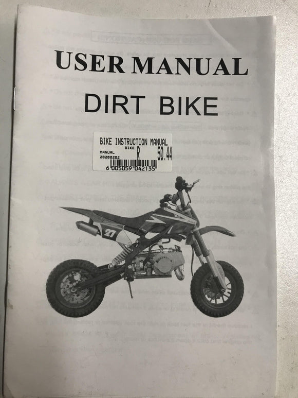 Mini Dirt Bike Instruction Manual - Pocketbike SA