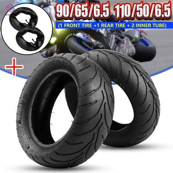 Combo Deal =  X1 Front Tread Tyre 90/65-6.5, X1 Rear Tread Tyre 110/65-6.5, X1 Front Tube 90/65-6.5 and X1 Rear Tube 110/65-6.5 - Pocketbike SA