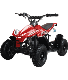 Level Entry 50cc 2 Stroke Air Cooled 3HP Mini Quad - Red FREE DELIVERY NATION WIDE - Pocketbike SA