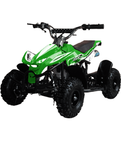 Level Entry 50cc 2 Stroke Air Cooled 3HP Mini Quad - Green FREE DELIVERY NATION WIDE