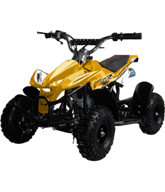 Level Entry 50cc 2 Stroke Air Cooled 3HP Mini Quad - Yellow FREE DELIVERY NATION WIDE