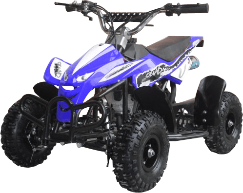 Level Entry 50cc 2 Stroke Air Cooled 3HP Mini Quad - Blue FREE DELIVERY NATION WIDE