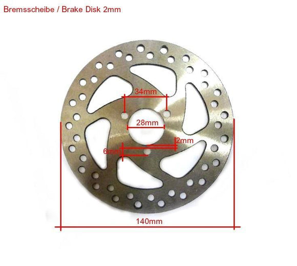 Pocketbike Standard Brake Disc