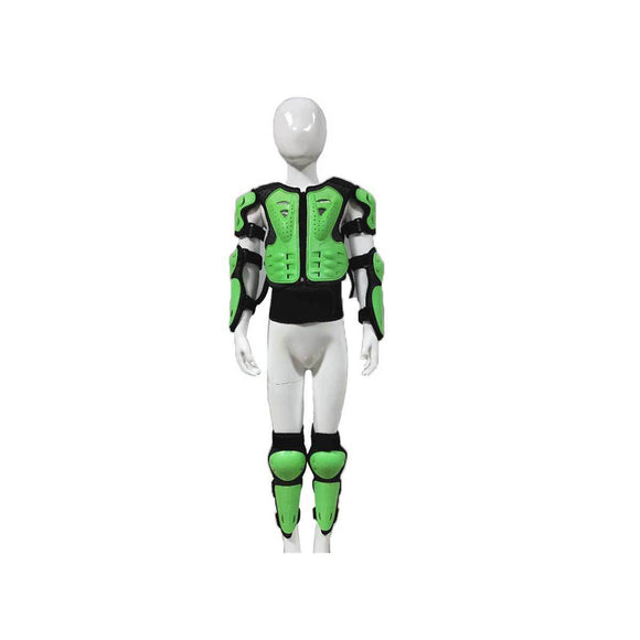 Kids Chest Protection - Green - Pocketbike SA