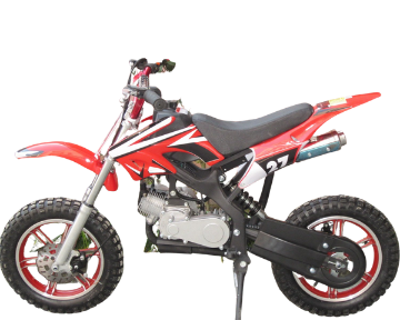50cc 2 Stroke Air-Cooled 3HP Mini Dirt Bike - Red & Black