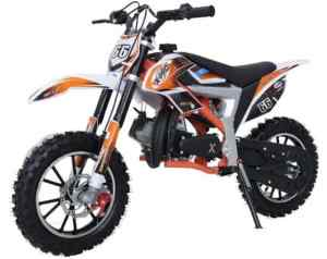 Gazelle 2021 50cc 2 Stroke 3HP Mini Dirt Bike - Orange & White