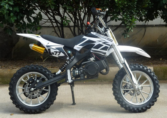 Level Entry 50cc 2 Stroke Air Cooled 3HP Dirt Bike - White FREE DELIVERY NATION WIDE - Pocketbike SA