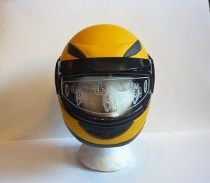 Kids Helmet Matt Yellow - Pocketbike SA