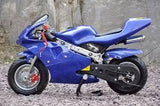 Level Entry 50cc 2 Stroke Air-cooled 3HP Pocketbike - Blue (Cag Model) FREE DELIVERY NATION WIDE