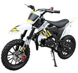 New SYX MOTO 2021 Model Level Entry 50cc 2 Stroke 3HP Dirt Bike - Yellow & White - FREE DELIVERY NATION WIDE