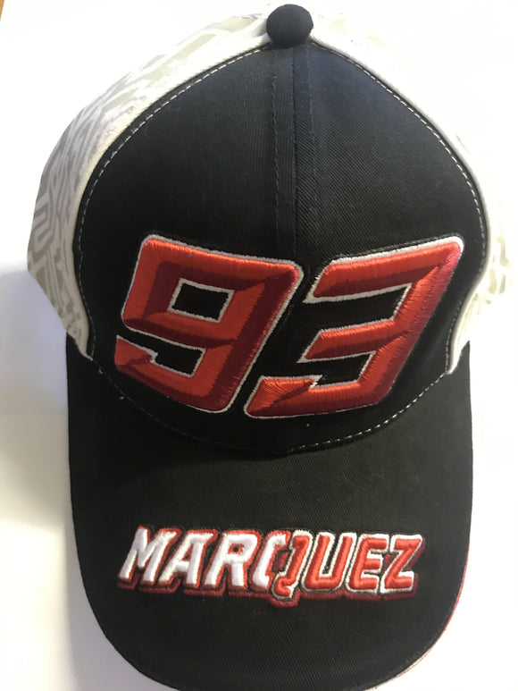 Official #93 Marc Marquez MotoGP Cap - Black - Pocketbike SA