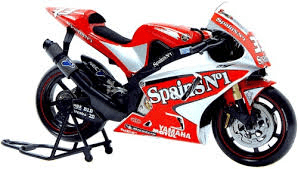 Model Bike 1:12 Minichamps Marco Melandri Yamaha YZR M1 Fortuna Gauloises Tech 3 2004 - Pocketbike SA