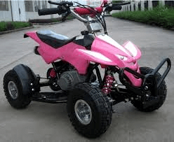 Level Entry 50cc 2 Stroke Air Cooled 3HP Mini Quad - Pink FREE DELIVERY NATION WIDE