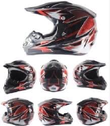 Kids Motocross Helmet - Red / Black