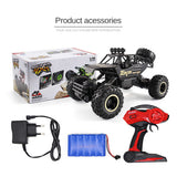 1:12 Scale RC 4WD Rock Crawler - Black with Rubber Tyres