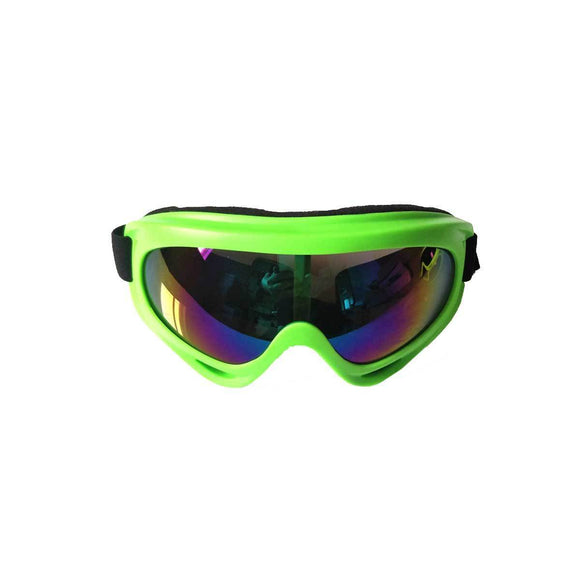 Kids Motocross Goggles - Green - Pocketbike SA