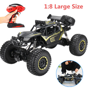 1:8 Scale RC 4WD Rock Crawler - Black with Rubber Tyres