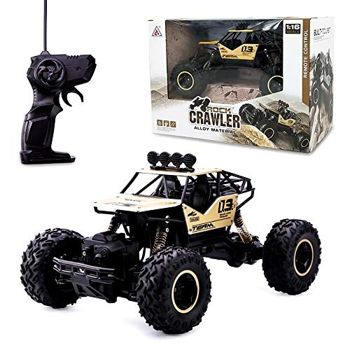 1:16 Scale RC 4WD Rock Crawler - Gold with Rubber Tyres