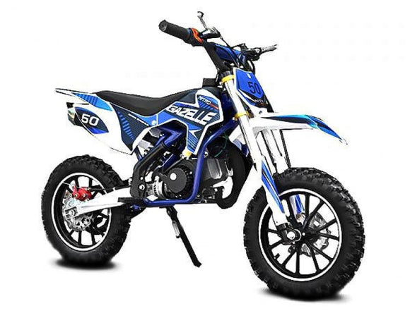 NEW Gazelle 2020 Model Level Entry 50cc 2 Stroke 3HP Dirt Bike - Blue & White FREE DELIVERY NATION WIDE - Pocketbike SA