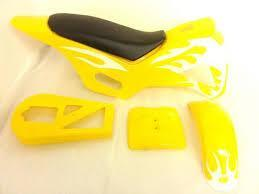 Dirt Bike Fairing Kit - Yellow / White