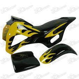 Mini Dirt Bike Fairing Kit - Yellow / Black - Pocketbike SA