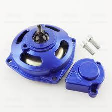 Complete Front Sprocket Unit with Cap - Blue for 25H Chain - Pocketbike SA