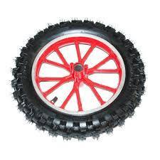 Complete Front 2.50-10 Dirt Bike Wheel - Red - Pocketbike SA