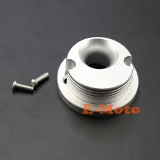 Race Anodized Cone Air Filter Adaptor - Silver - Pocketbike SA