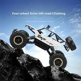 1:12 Scale RC 4WD Rock Crawler - Silver with Rubber Tyres