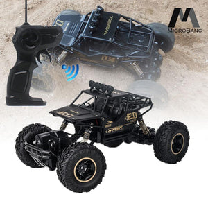 1:16 Scale RC 4WD Rock Crawler - Black with Rubber Tyres
