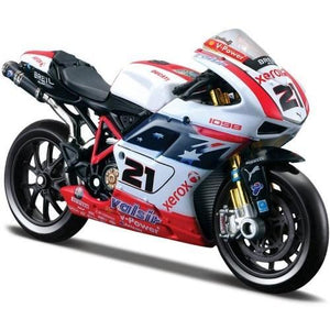 Model Bike 1:18 Maisto #21 Troy Bayliss Xerox Ducati - SCARCE